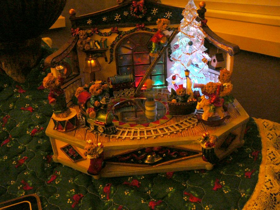 Christmas music box decoration