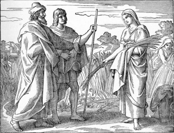 Boaz gives Ruth protection