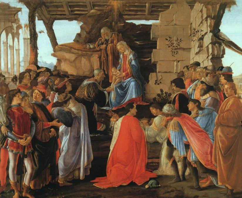 """""""Adoration of the Wise Men"""" - Botticelli"""