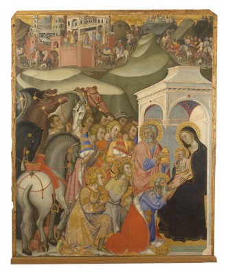 """Adoration of the Magi"" - Bartolo di Fredi"