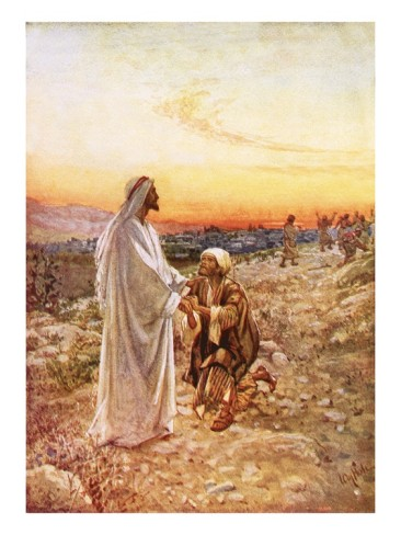 One leper returns to thank Jesus - by William Brassey Hole