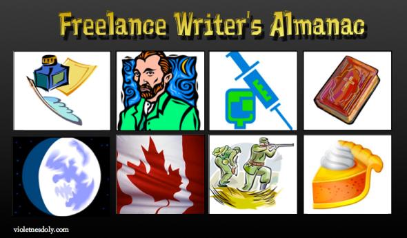 Freelance Writer's Almanac icon - violetnesdoly.com