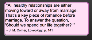 Loveology quote - J. M. Comer