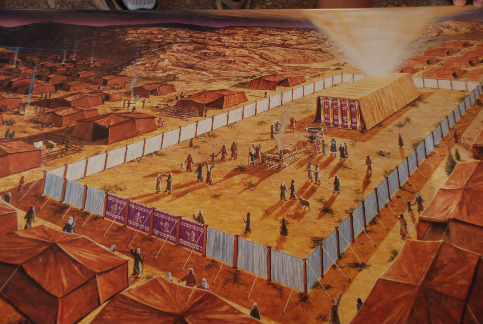 Israel tabernacle  amp encampment  Tabernacle In The Wilderness Model