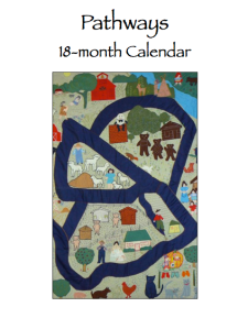 Cover - Pathways calendar