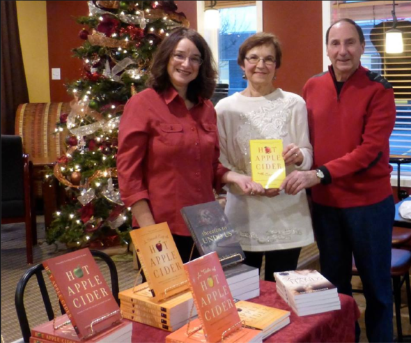 With Rose Scott and Bill Bonikowsky at the Hot Apple Cider With Cinnamon launch