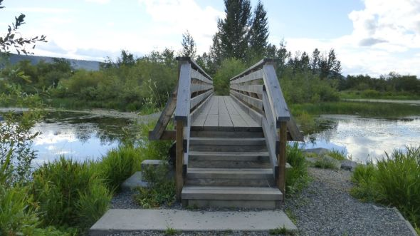 Footbridge in Scout Island Park - Williams Lake BC