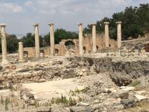 Collonades in Beit Shean. (Photo © 2019 by V. Nesdoly)