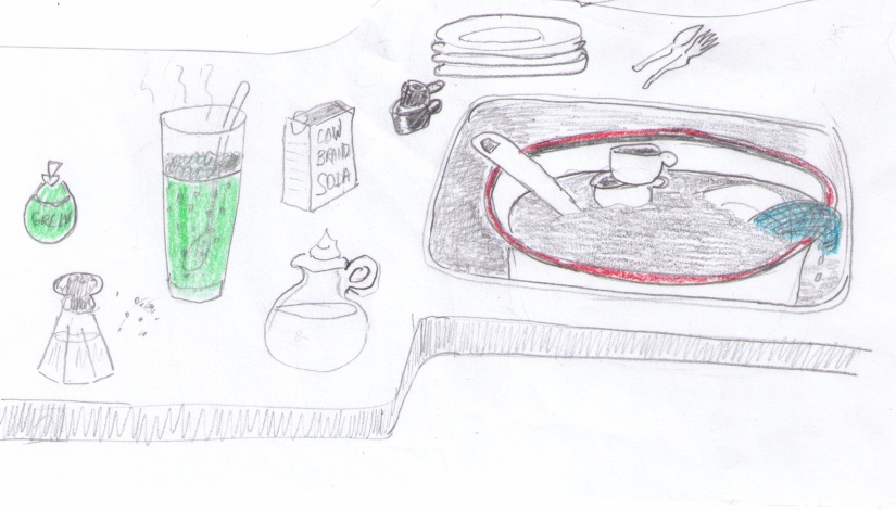 """""""Dishes"""" sketch by Violet Nesdoly"""
