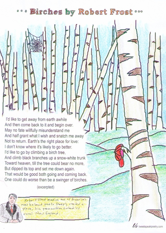 "Coloring Pages - ""Birches"" by Robert Frost"