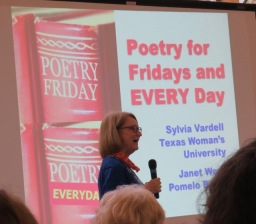Sylvia Vardell delivering Keynote 1
