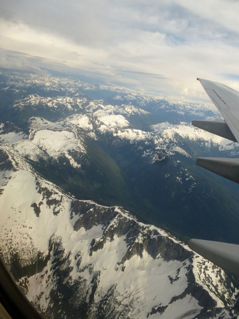 B.C. mountains from the air