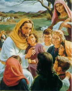 """""""Jesus and the Children"""" - Artist unknown"""