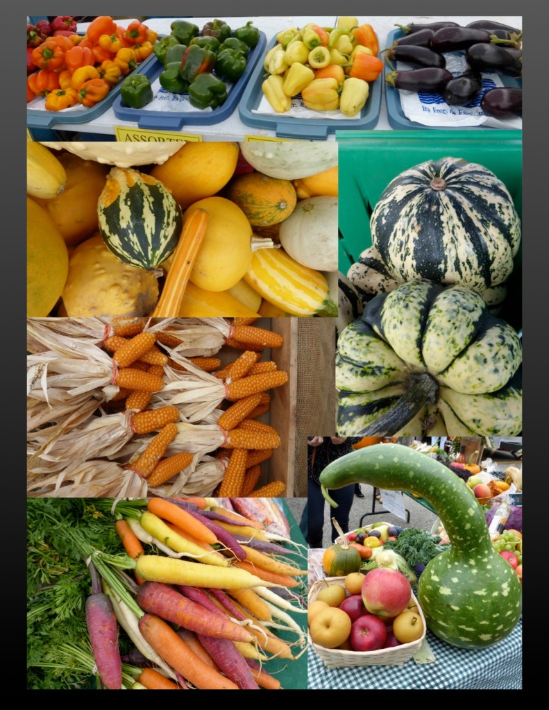 Collage of market produce