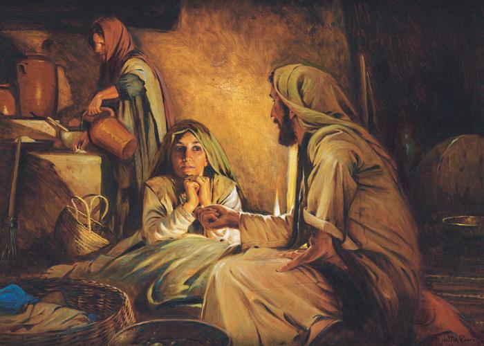Martha, Mary, Jesus
